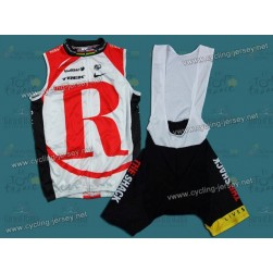 2011 Radioshack Red Champion Team Cycling Vest and Bib Shorts Set