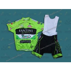 2013 Farnese Vini-Selle Fluorescent Cycling Jersey And Bib Shorts