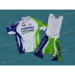 2011 Liquigas Team Cycling Jersey And Bib Shorts Set
