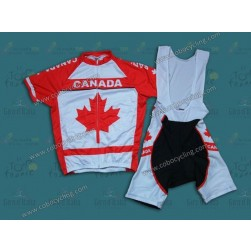2014 Canada Country Team Cycling Jersey And Bib Shorts