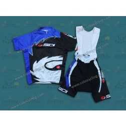 2013 Sidi Black And Blue Cycling Jersey And Bib Shorts