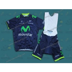 2014 Team Movistar Cycling Jersey And Bib Shorts