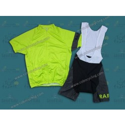 2013 Team Rapha Fluorescent Green Cycling Jersey And Bib Shorts