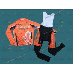 2013 Euskaltel Euskadi Long Sleeve Cycling Jersey And Bib Pants Set