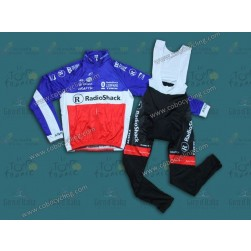 2013 Leopard Trek France Champion Thermal Long Cycling Jersey And Bib Pants