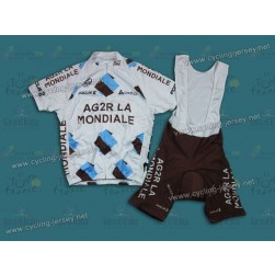 2013 Ag2r La Mondiale Cycling Jersey and Bib Shorts
