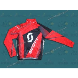 2013 Scott Red Thermal Long Sleeve Cycling Jersey