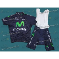 2013 Team Movistar Cycling Jersey and Bib Shorts Set