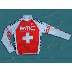2014 BMC Switzerland Champion Thermal Long Sleeve Cycling Jersey