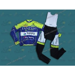 2014 Vini Fantini NIPPO Long Sleeve Cycling Jersey And Bib Pants Set