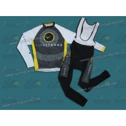 2010 Livestrong Thermal Cycling Long Sleeve Jersey And Bib Pants Set