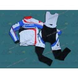 2014 Cube Women Thermal Long Sleeve Cycling Jersey And Bib Pants