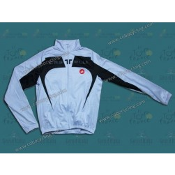 2014 Castelli Black And White Thermal Long Sleeve Cycling Jersey