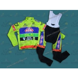 2014 Neri Sottoli- Yellow Fluo Thermal Long Sleeve Cycling Jersey And Bib Pants