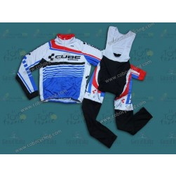 2014 Cube Thermal Long Sleeve Cycling Jersey And Bib Pants