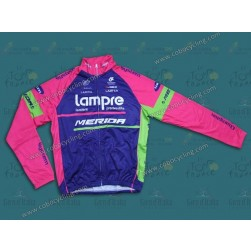 2014 Team Lampre - Merida Thermal Cycling Long Sleeve Jersey
