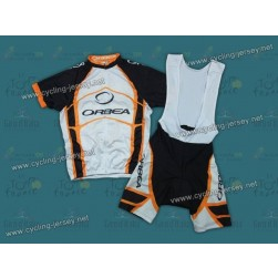 2012 Orbea White And Yellow Cycling Jersey and Bib Shorts Set