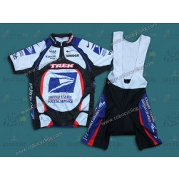 2000 USPS White And Blue Cycling Jersey And Bib Shorts