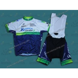 2014 Orica - Green EDGE Cycling Jersey And Bib Shorts