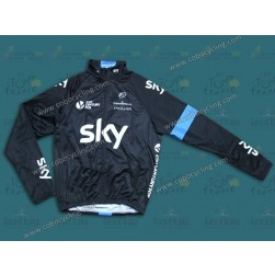 2014 Sky Thermal Long Sleeve Cycling Jersey