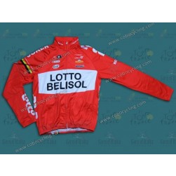 2014 Team Lotto - Belisol Thermal Long Sleeve Cycling Jersey