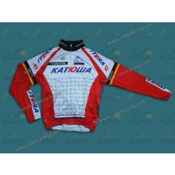 2014 Team Katusha Thermal Cycling Long Sleeve Jersey