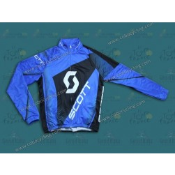 2013 Scott Blue Thermal Cycling Long Sleeve Jersey