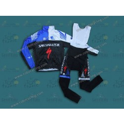 2013 SPED Black And Blue Thermal Long Cycling Jersey And Bib Pants
