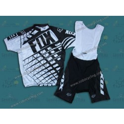 2014 Fox Black/Whtie Cycling Jersey And Bib Shorts