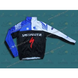 2013 SPED Black And Blue Thermal Cycling Long Sleeve Jersey