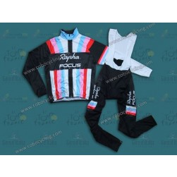 2013 Rapha Black Stripe Thermal Long Cycling Jersey And Bib Pants