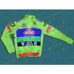 2014 Neri Sottoli- Yellow Fluo Thermal Long Sleeve Cycling Jersey