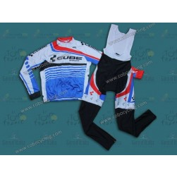 2014 Cube Long Sleeve Cycling Jersey And Bib Pants Set