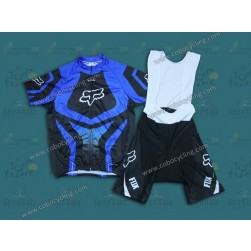 2014 Fox Blue Cycling Jersey And Bib Shorts