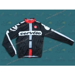 2014 Cervelo Black Thermal Long Sleeve Cycling Jersey