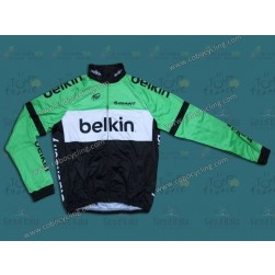 2014 Belkin Pro Team Thermal Long Sleeve Cycling Jersey