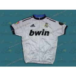 2013 Team Real Madrid White Cycling Jersey