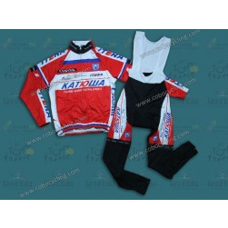 2013 Team Katusha Thermal Long Cycling Jersey And Bib Pants