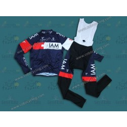 2014 Team IAM Long Sleeve Cycling Jersey And Bib Pants Set