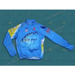 2014 Astana Thermal Long Sleeve Cycling Jersey
