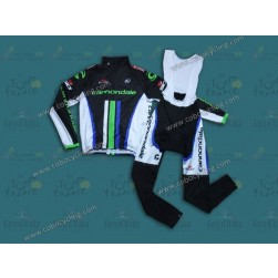 2013 Cannondale Black Thermal Long Cycling Jersey And Bib Pants