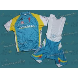 2011 Astana Cycling Jersey and Bib Shorts Set