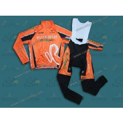 2013 Euskaltel Euskadi Thermal Long Cycling Jersey And Bib Pants