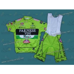 2012 Farnese Vini-Selle Italia Fluorescent Cycling Jersey and Bib Shorts Set