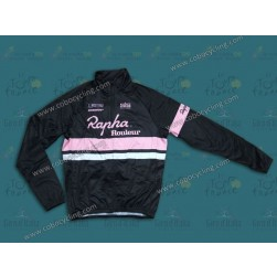 2014 Rapha Black And Pink Thermal Long Sleeve Cycling Jersey