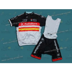 2012 RadioShack Nissan Trek Spain Champion Cycling Jersey and Bib Shorts Set