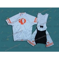 2013 Pearl Izumi White And Orange Cycling Jersey And Bib Shorts