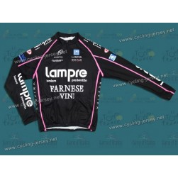 2010 Lampre Black Italy Thermal Long Sleeve Cycling Jersey