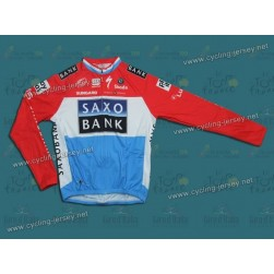 2010 Saxo Bank Luxembourg Champion Thermal Long Sleeve Cycling Jersey