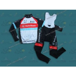 2013 RadioShack Leopard Trek Thermal Long Cycling Jersey And Bib Pants